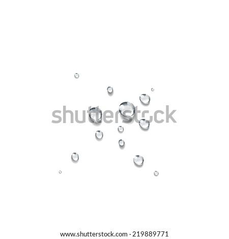 Transparent water drop vector - stock vector