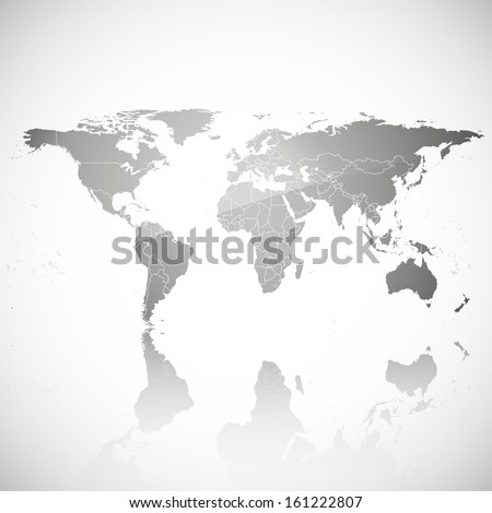 Transparent world map shadow on gray stock vector 161222807 transparent world map with shadow on a gray background vector gumiabroncs Images