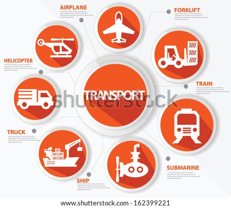 Transport and logistics concept,Orange version,vector