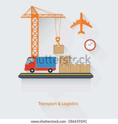 Transport and Logistics concept,vector - stock vector