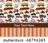 Transport card - stock vector