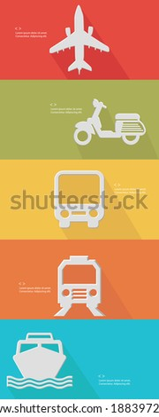 Transport concept for text,Colorful version,vector - stock vector