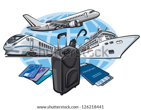 transport for travel concept - stock vector