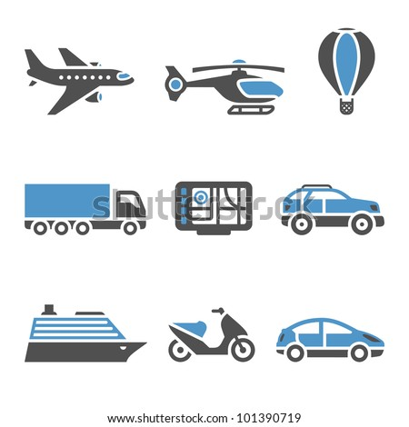 Transport Icons - A set of second - stock vector