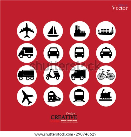 Transport icons. Transportation. Logistics icon. vector illustration.  - stock vector
