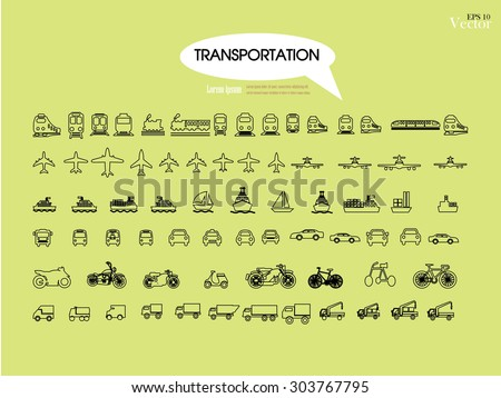 Transport icons.transportation .logistics.logistic icon.vector illustration. - stock vector