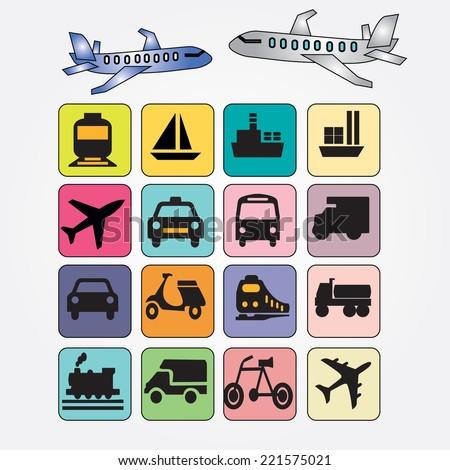 Transport icons,transportation vector illustration,logistics,logistic icon vector  - stock vector