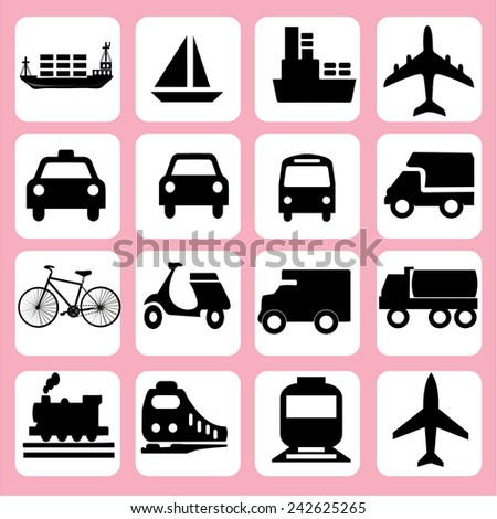 Transport icons,transportation vector illustration,logistics,logistic icon vector  - stock vector