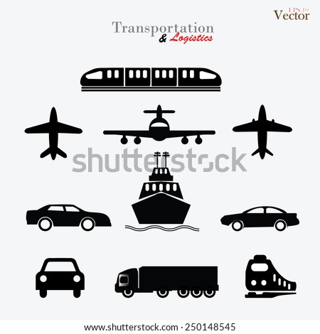Transport icons,transportation vector illustration, logistics, logistic icon vector - stock vector