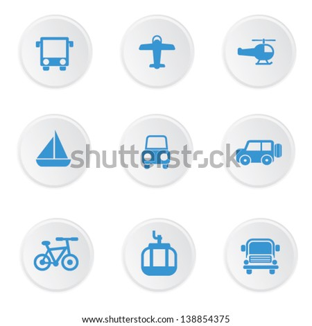 Transport icons,vector - stock vector