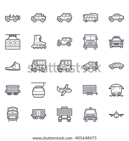 Transport Illustration Icons 5 - stock vector