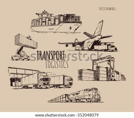 Transport logistics - stock vector
