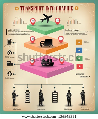 Transport,logistics,business info graphics,vector - stock vector