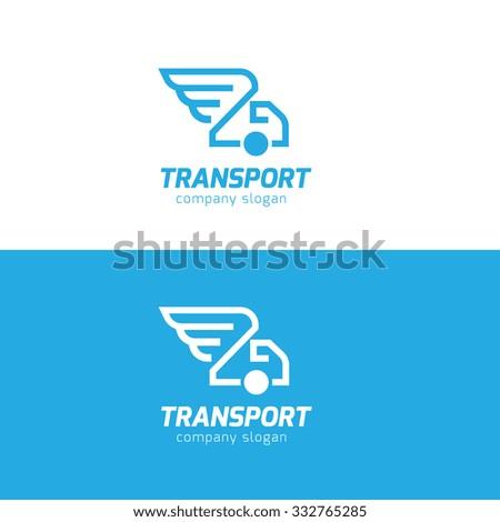 Transport Logo,wing logo,truck logo,vector logo template - stock vector