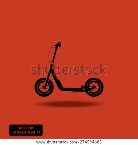 Transport - Scooter - Single Icon Series vol. 19 - stock vector