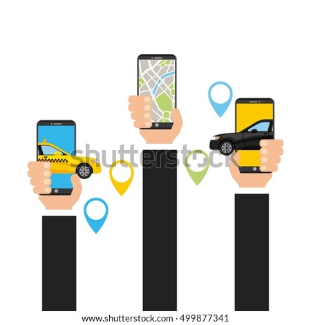 transport service app technology icon vector illustration design