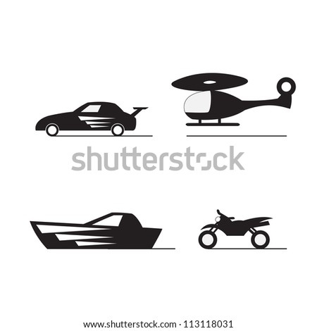 transport silhouette - stock vector