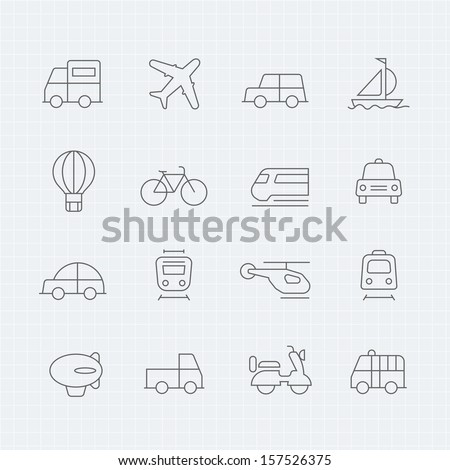 transport vector thin line symbol icon - stock vector