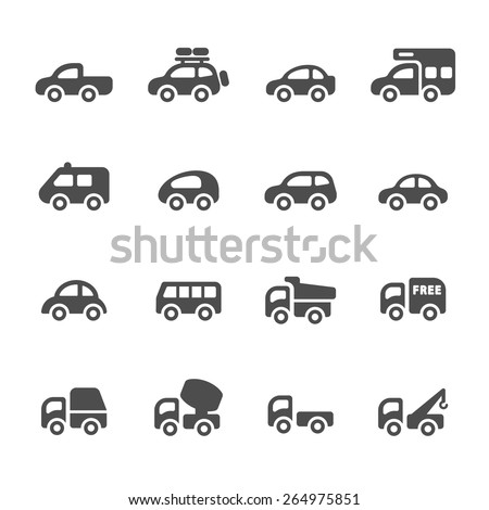 transportation and vehicle icon set 2,vector eps10. - stock vector