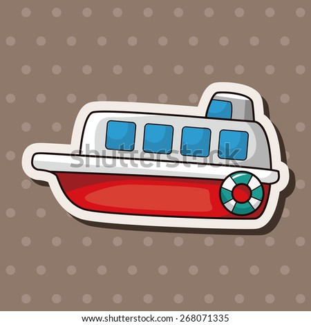 Transportation boat theme elements - stock vector