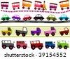 Transportation Border Set - Vector - stock vector