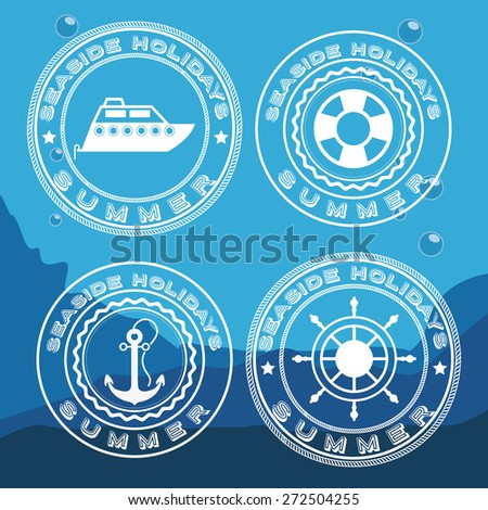 Transportation design over blue background, vector illustration - stock vector