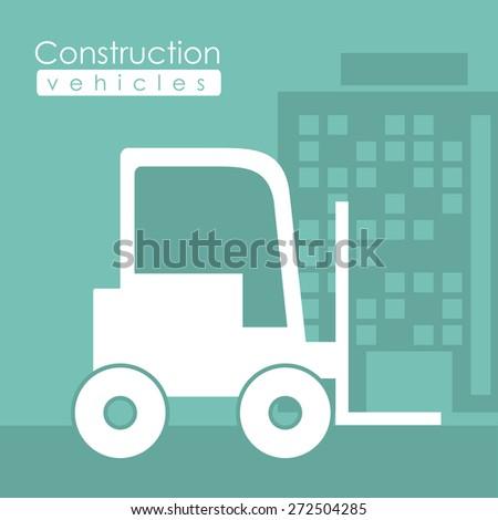 Transportation design over green background, vector illustration - stock vector