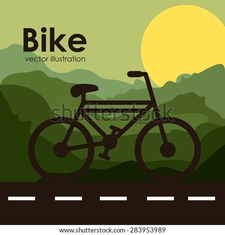 Transportation design over landscape background, vector illustration - stock vector