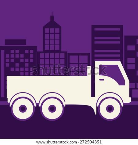 Transportation design over purple background, vector illustration - stock vector