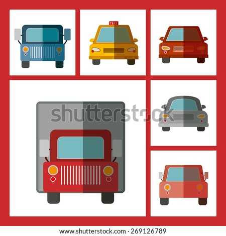 Transportation design over red background, vector illustration - stock vector