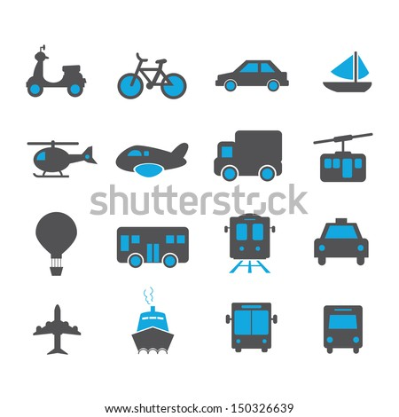 Transportation Icon - Color - stock vector
