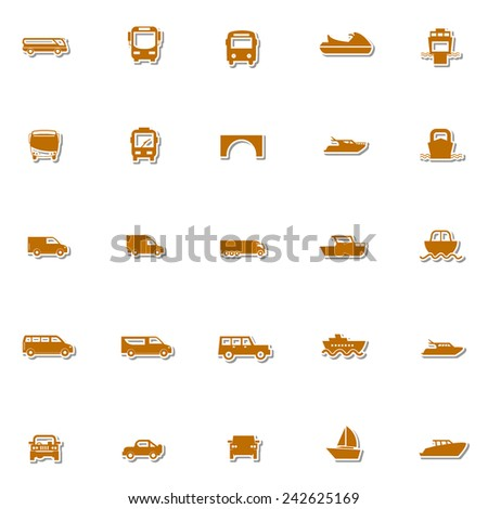 Transportation icon set 3 - stock vector