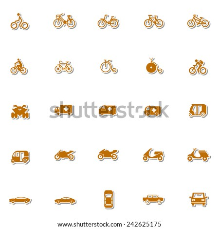 Transportation icon set 4 - stock vector