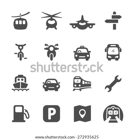 transportation icon set 2, vector eps 10. - stock vector