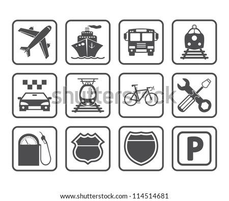 Transportation icon. Vector illustration. - stock vector