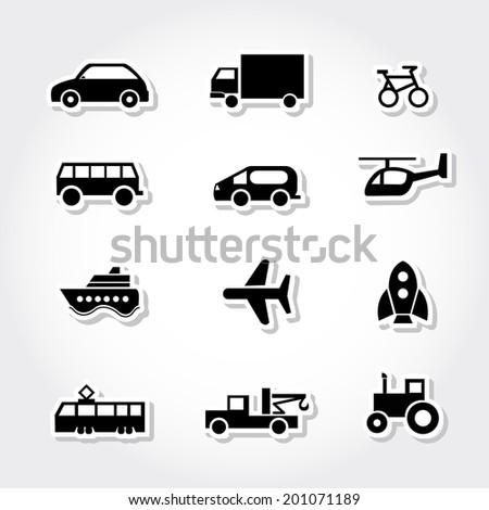 Transportation icons. - stock vector