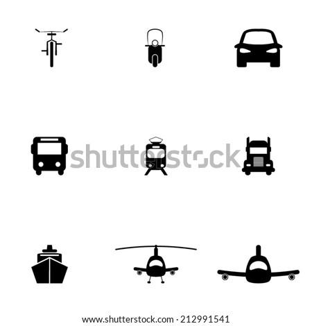 Transportation_Icons - stock vector