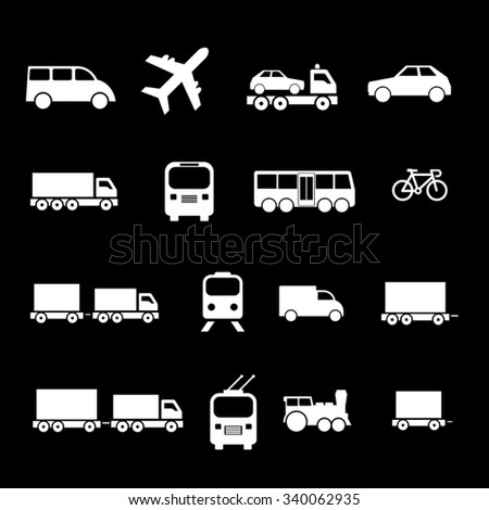 Transportation Icons. - stock vector
