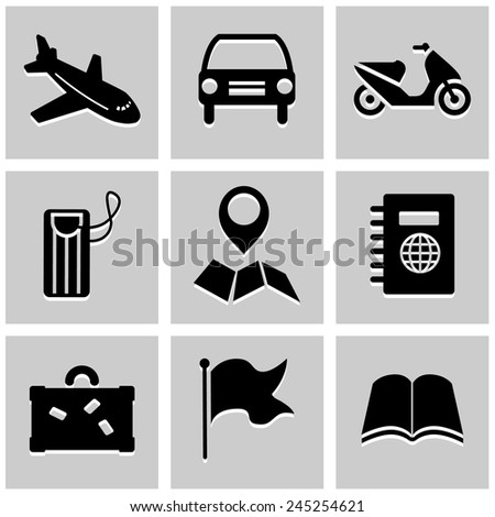 Transportation icons set great for any use. Vector EPS10. - stock vector