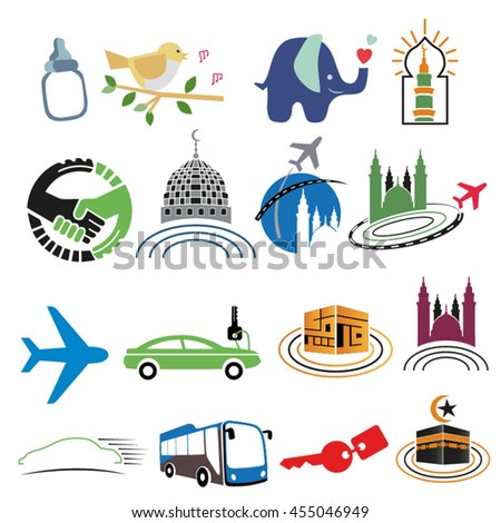 Transportation land and air - stock vector