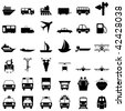 Transportation set of different vector web icons - stock vector