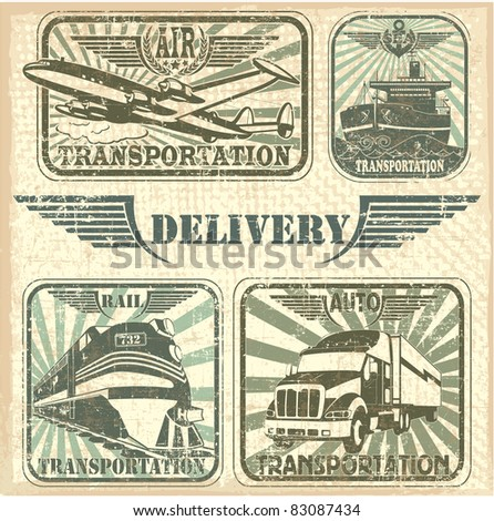 Transportation set stamp