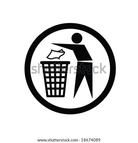 Trash - stock vector