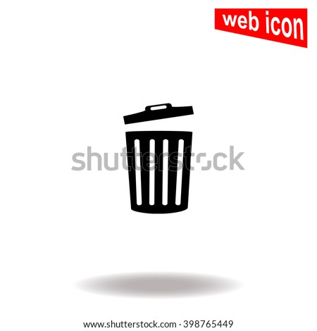 Trash bin icon. Universal icon to use in web and mobile UI - stock vector