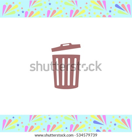 trash bin icon vector design stock vector 583615138