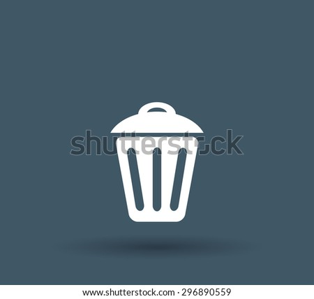 Trash can icon - stock vector