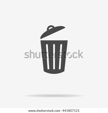 Trash can icon. Vector concept illustration for design.