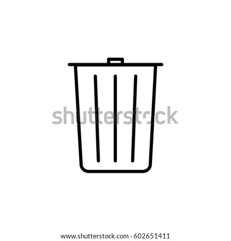 Trash Can Icons Set In Vector Stock 48297445