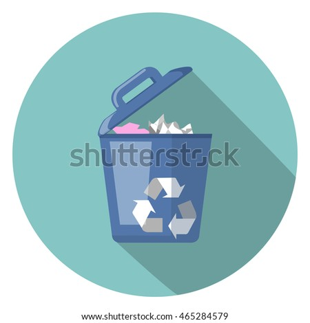 trash flat icon