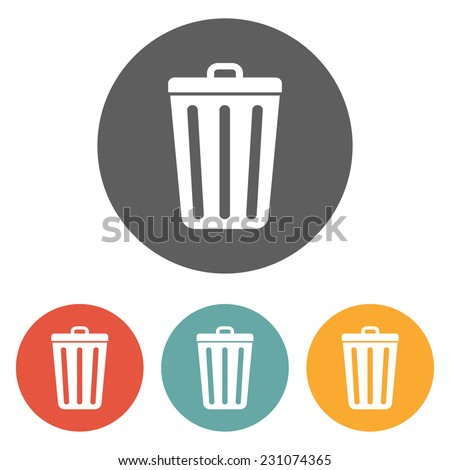 garbage icon vector stock vector 377813080 shutterstock